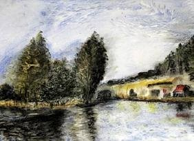 View Of The Canal San Martin - Alfred Sisley