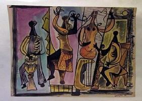 Mario Carreno - The Musicians Watercolor