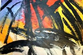 Orange Outline - Franz Kline - Oil On Paper