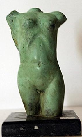 Patina Bronze Sculpture - M. Hugue