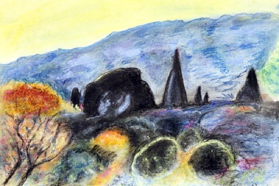 Untitled Pastel On Paper - Theo Van Rysselberghe