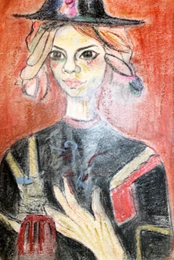 Little Hanna - Paul Augustin Aizpiri - Pastel On Paper