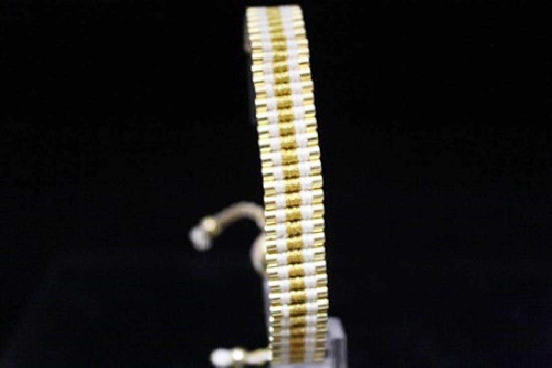 Beautiful 14kt Gold Over Silver Links London White &