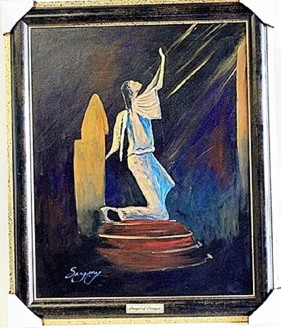 "Oil on Canvas ""Angel of Prayer"" by Sergey"