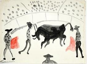 Pablo Picasso - Los Toreros