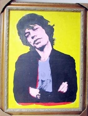 Andy Warhol Acrylic And Silkscreen Ink