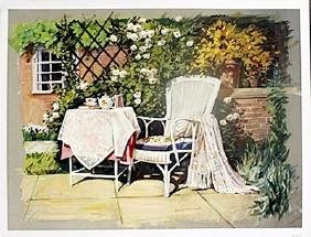 "Fine Art Print ""patio Ii"" By Avril Morris"