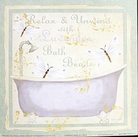 "Fine Art Print ""lavender Bath Beads"" By Kathey Hatch"