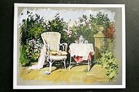 "Fine Art Print ""patio I"" By Avril Morris"