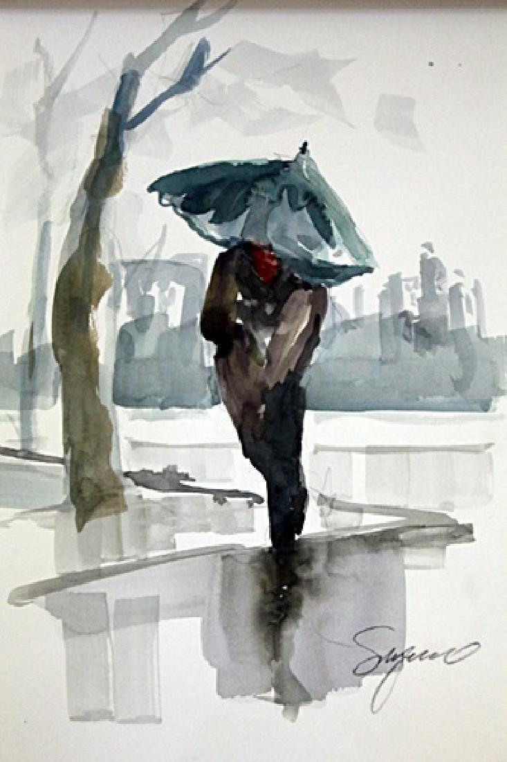 """""""WALKING IN THE RAIN II"""" BY MICHAEL SCHOFIELD"""