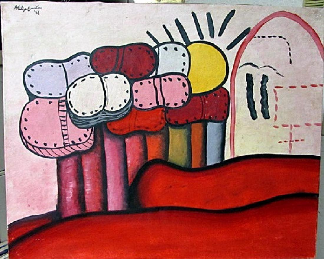 Oil on Canvas Philip Guston