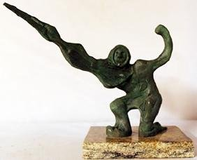 Patina Bronze Sculpture - David Alfaro Siqueiros