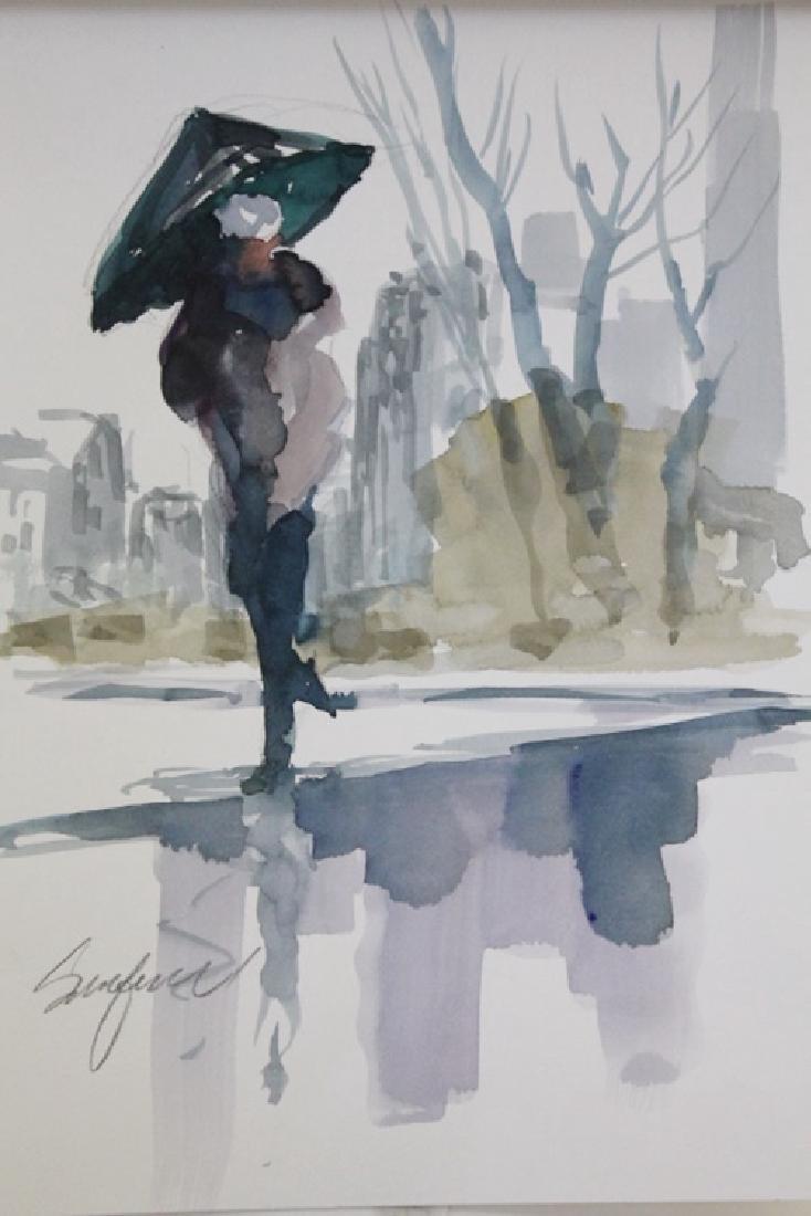 """""""WALKING IN THE RAIN III"""" BY MICHAEL SCHOFIELD"""