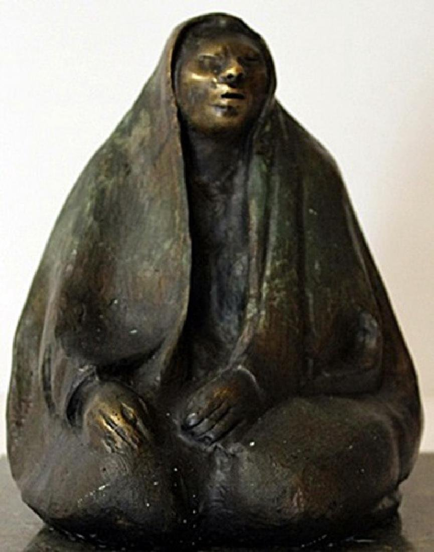 Hand Signed - Patina Bronze Sculpture