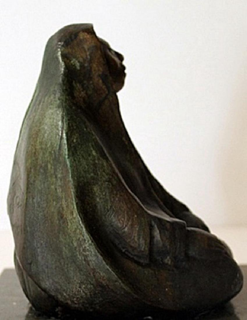 Hand Signed - Patina Bronze Sculpture - 2