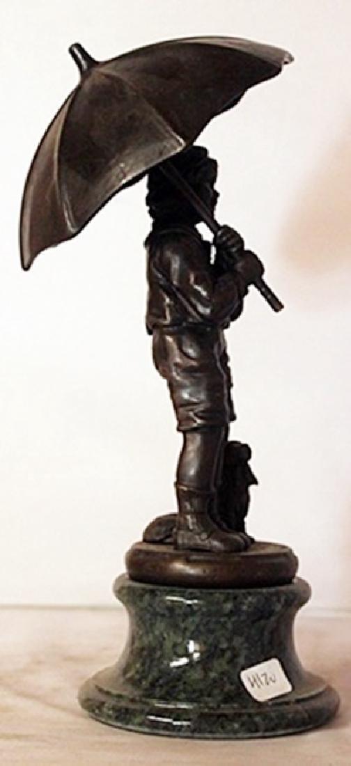 Rainy Day - Bronze sculpture - 2