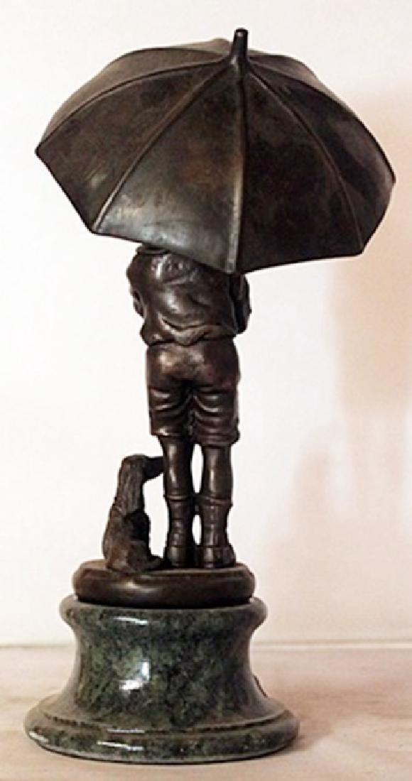 Rainy Day - Bronze sculpture - 3