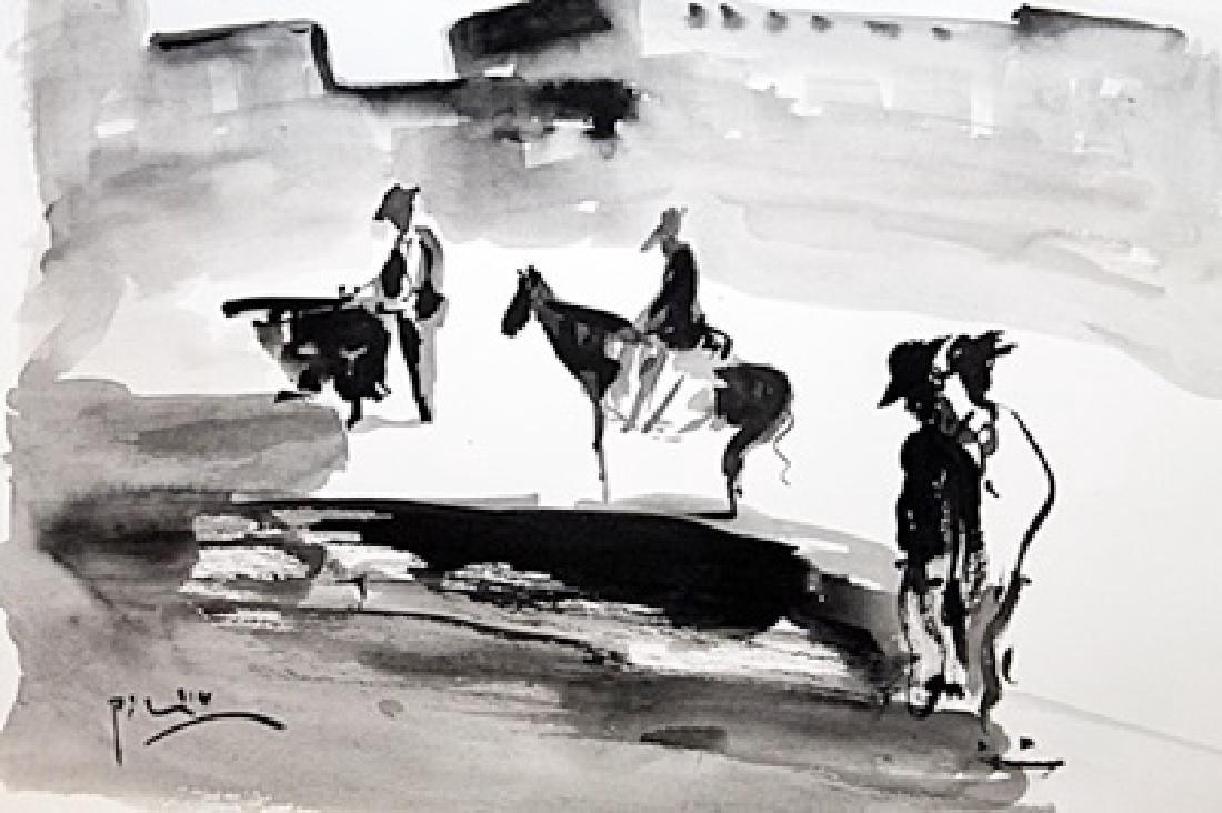 Pablo Picasso Watercolor - 2