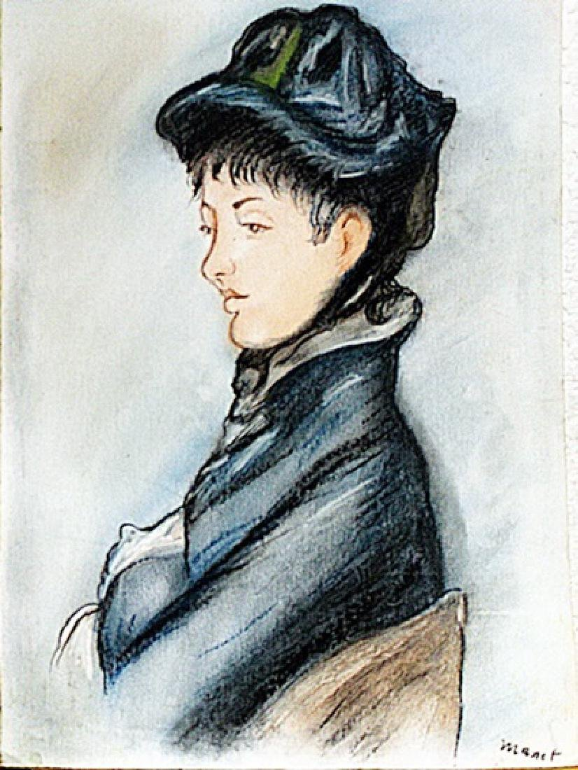 Edouard Manet - Lady Camillette 1879 Pastel
