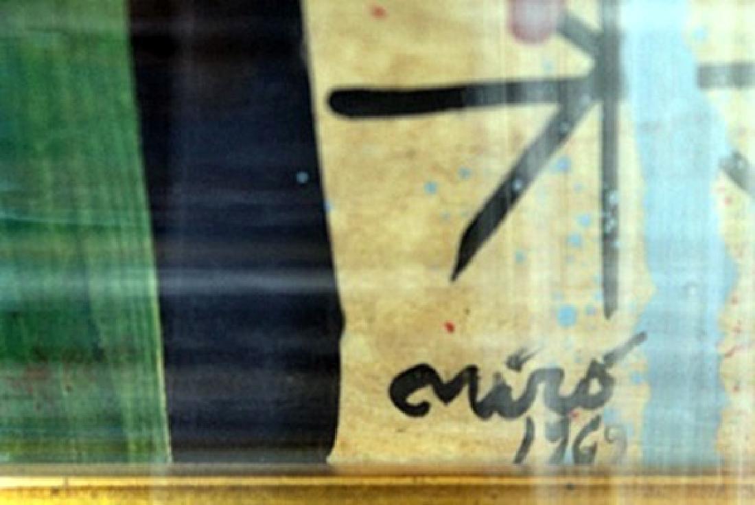 Signed Oil Joan Miro - 2