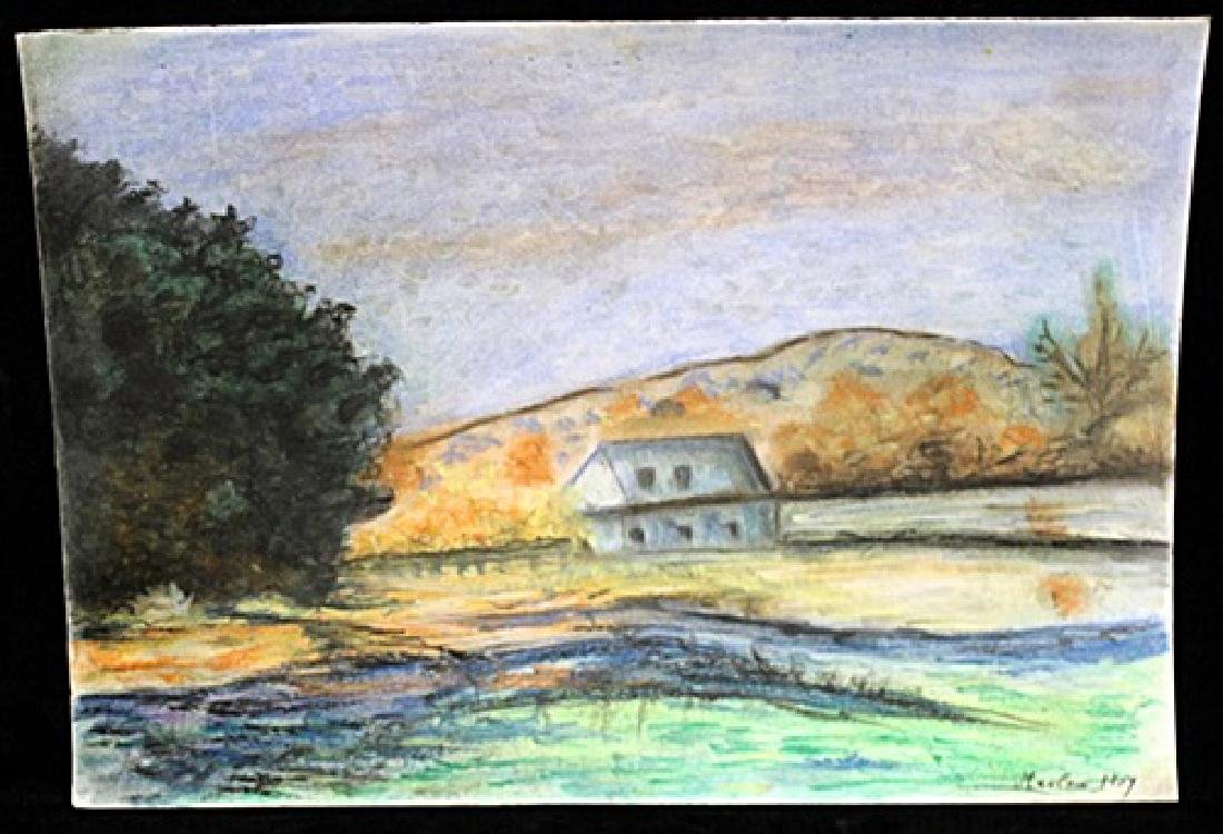 Untitled Pastel on Paper - Maxime Maufra