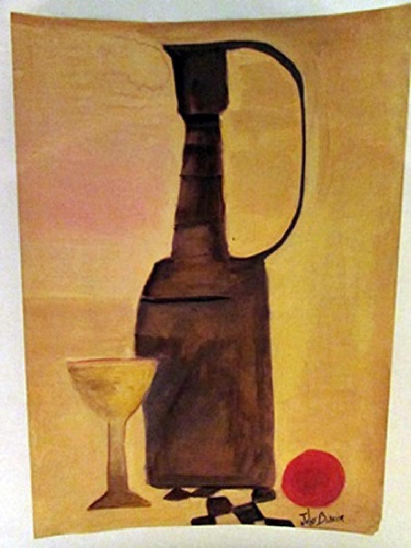 Julius Bissier - Jug and Cup Watercolor