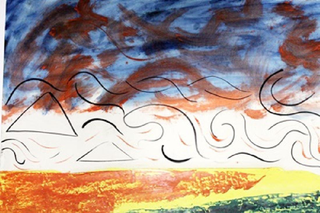 Landscape - Mario Schifano - Oil On Paper