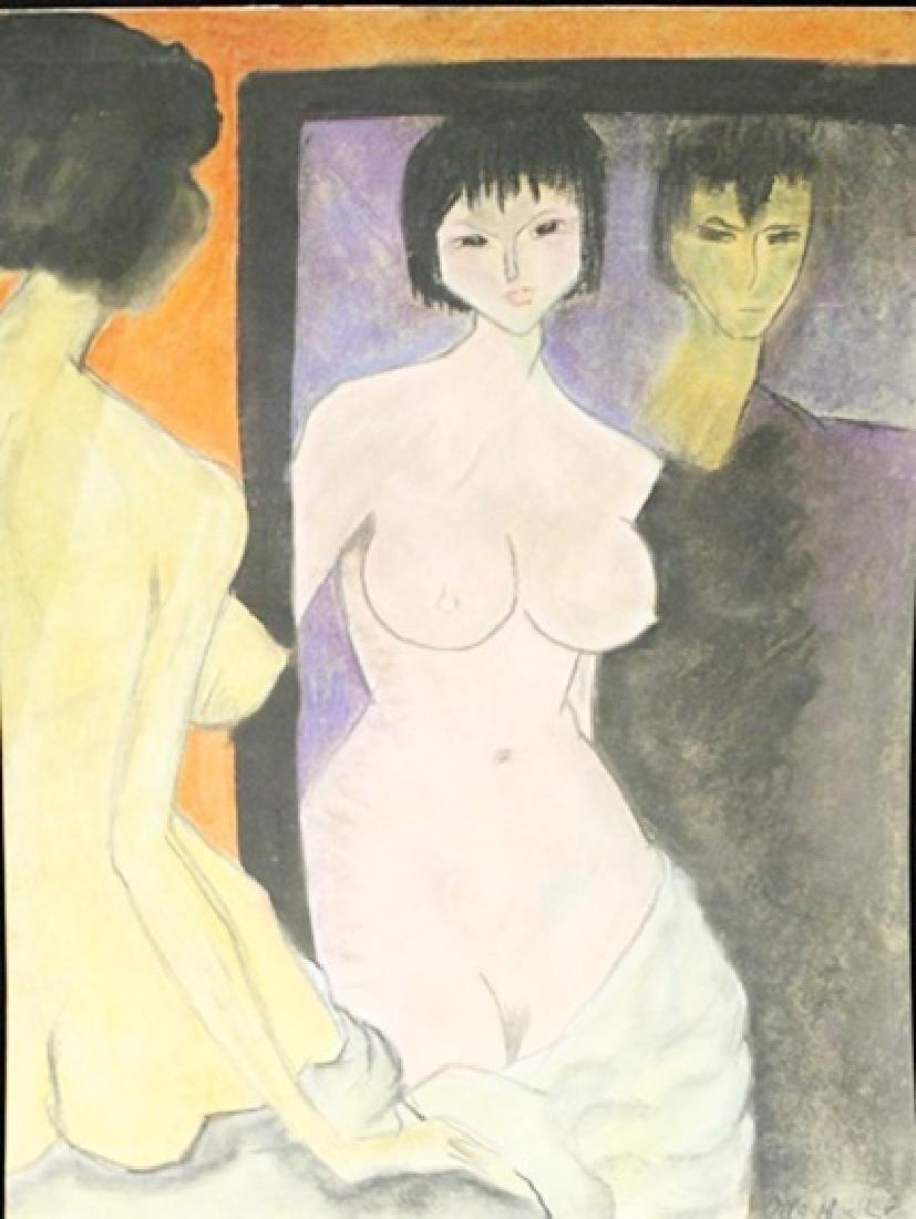Untitled Pastel On Paper - Otto Mueller