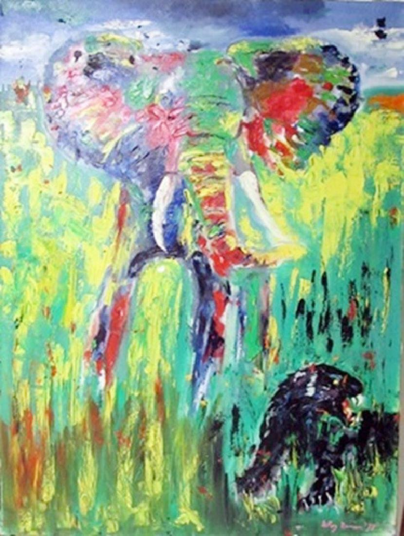 LeRoy Neiman Oil on Canvas