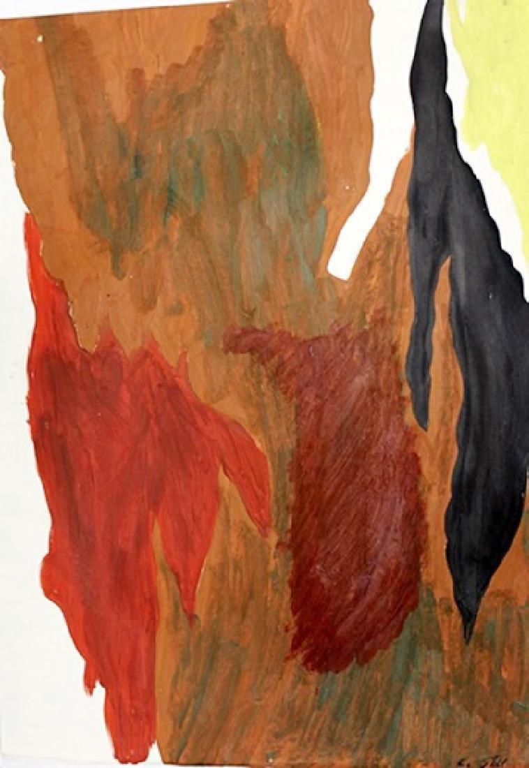 1944-J - Clyfford Still - Oil On Paper