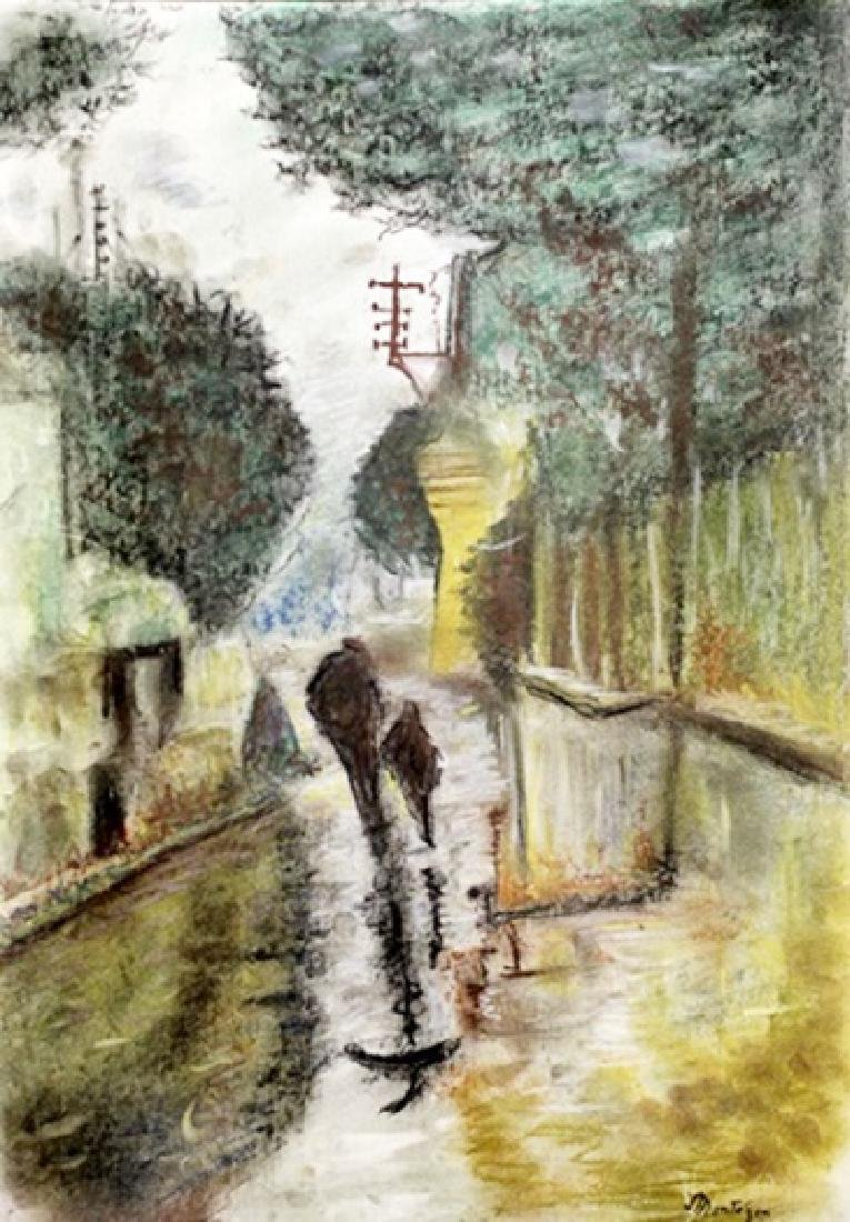 Untitled Pastel On Paper - Pierre Eugene Montezin