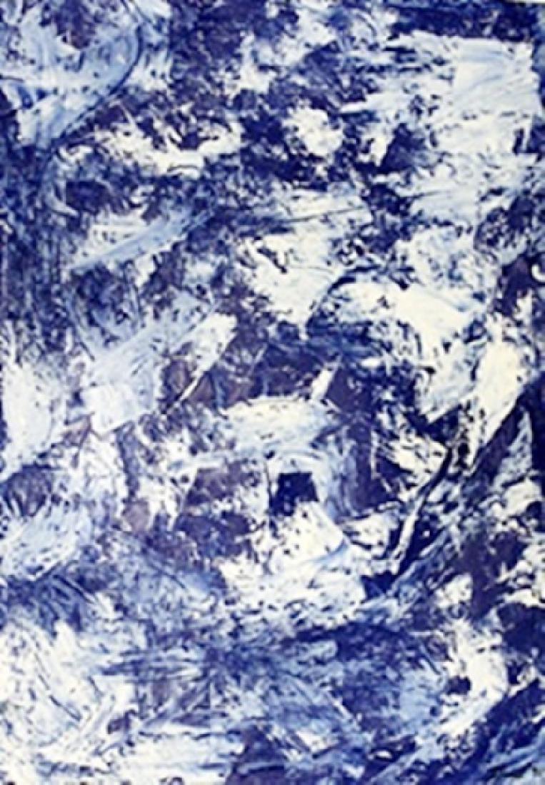 Blue II - Rudolf Stingel - Oil On Paper