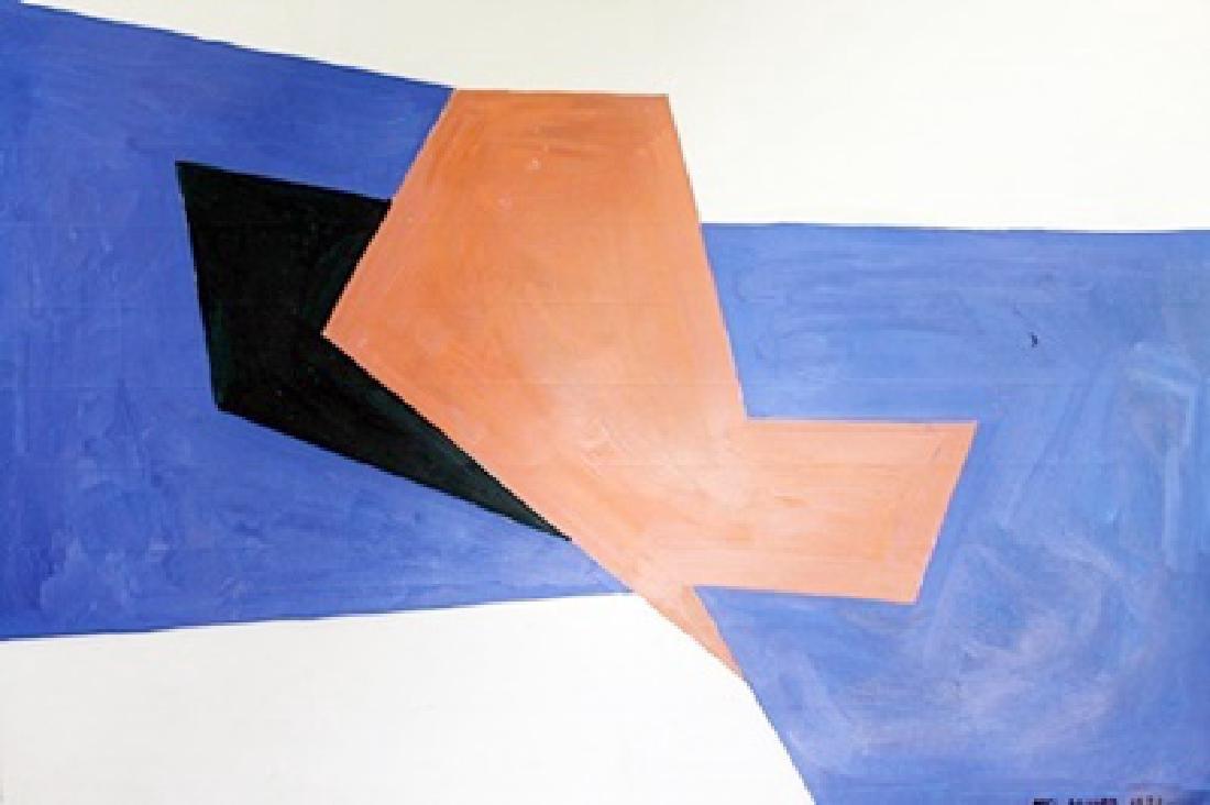 Amatista - Mel Bochner - Oil On Paper