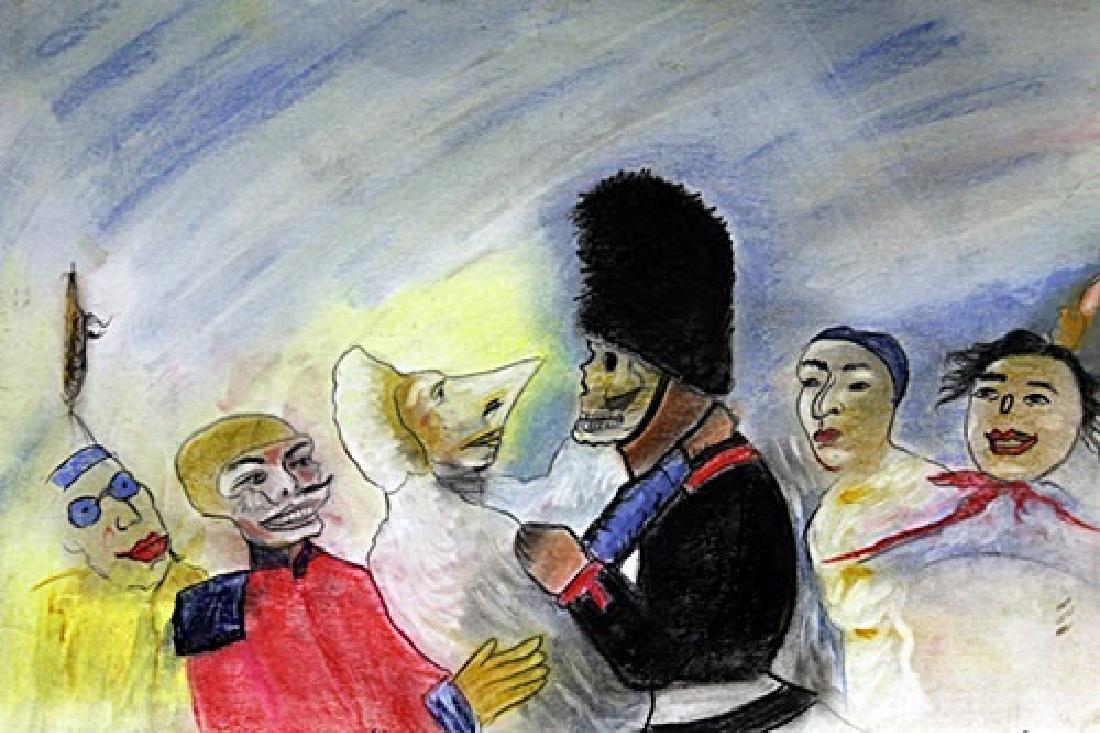 The Dance - James Ensor - Pastel On Paper