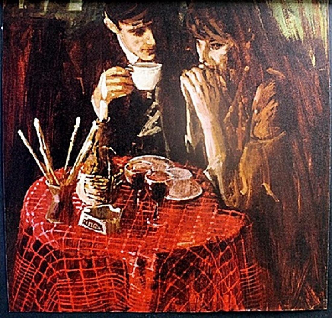 """Lithograph """"Table for two"""""""