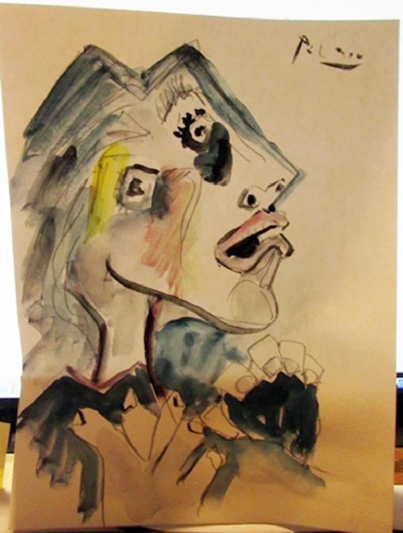 Pablo Picasso Watercolor