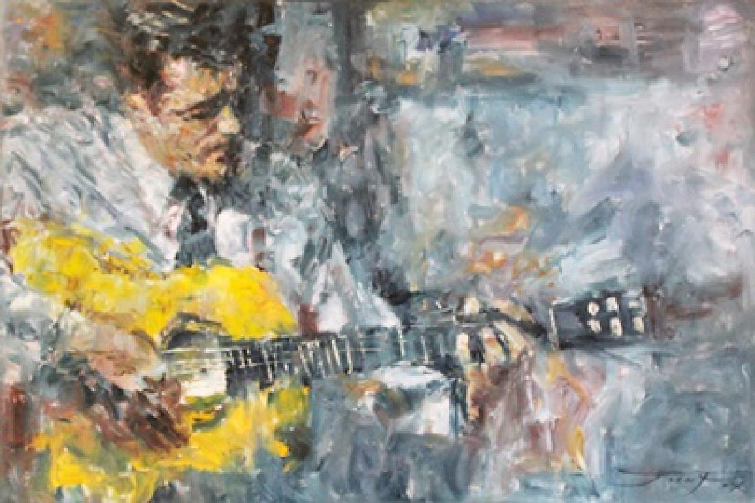 Guitar Player - Oil on Canvas - Jorn Fox