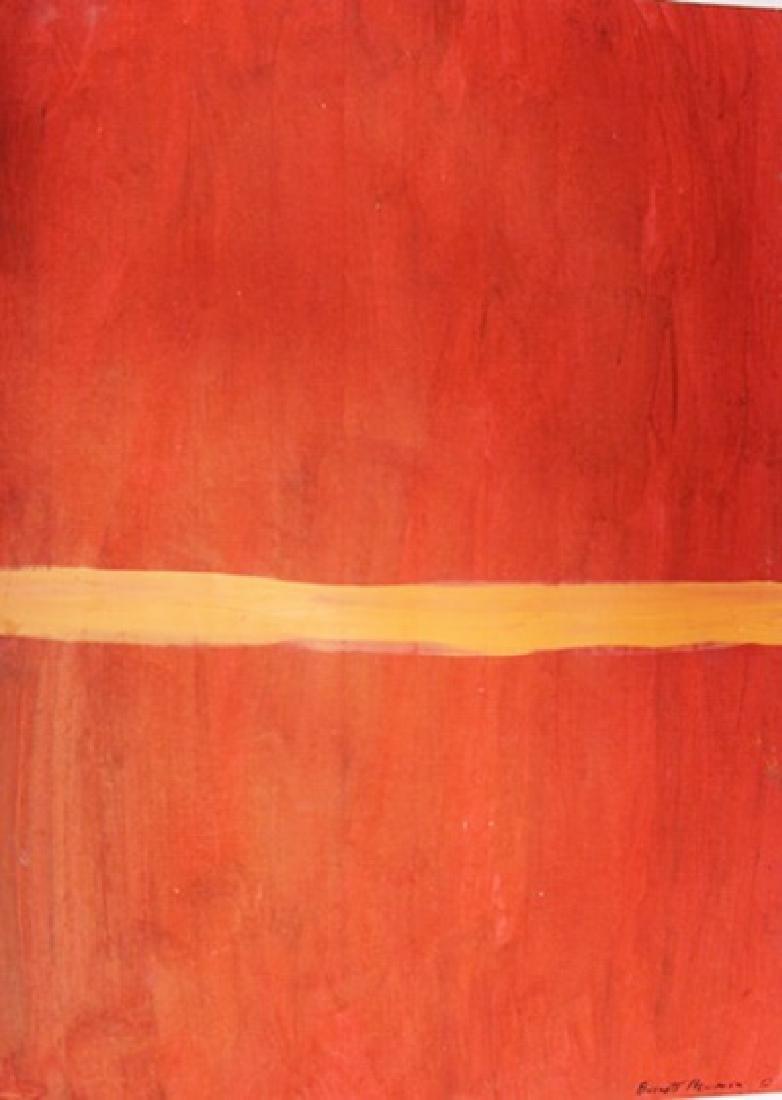 Red - Barnett Newman - Oil On Paper