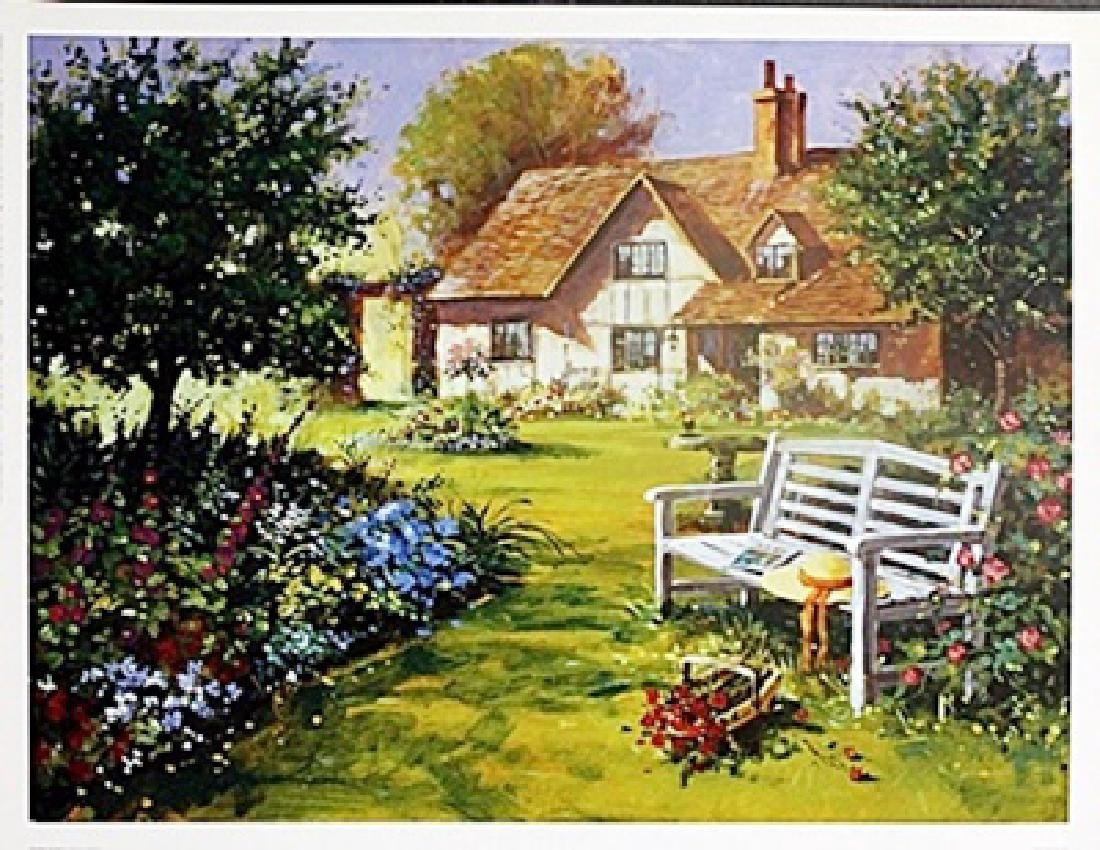 "Fine Art Print ""Garden Scene"" by Richard Telford"