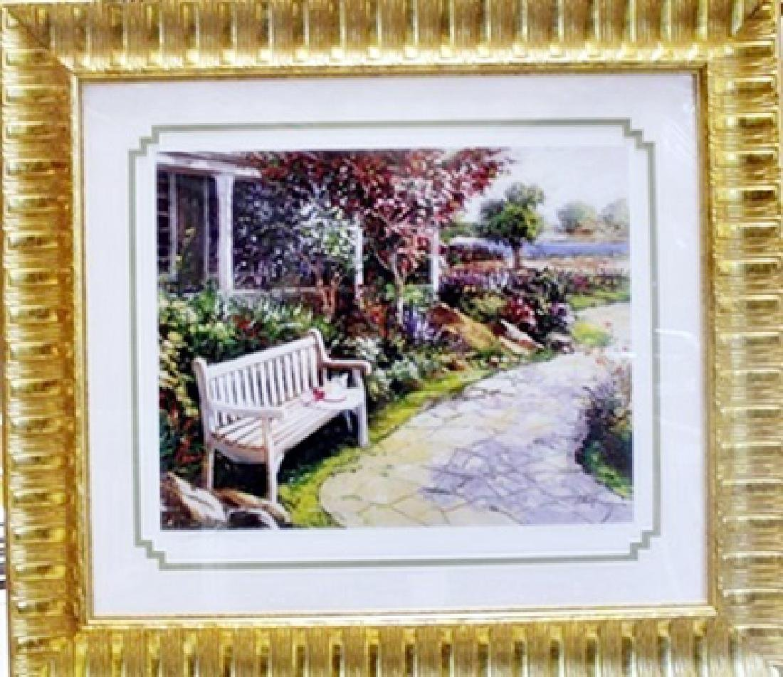 """Framed Hand Signed Lithograph """"By The Garden Path"""""""