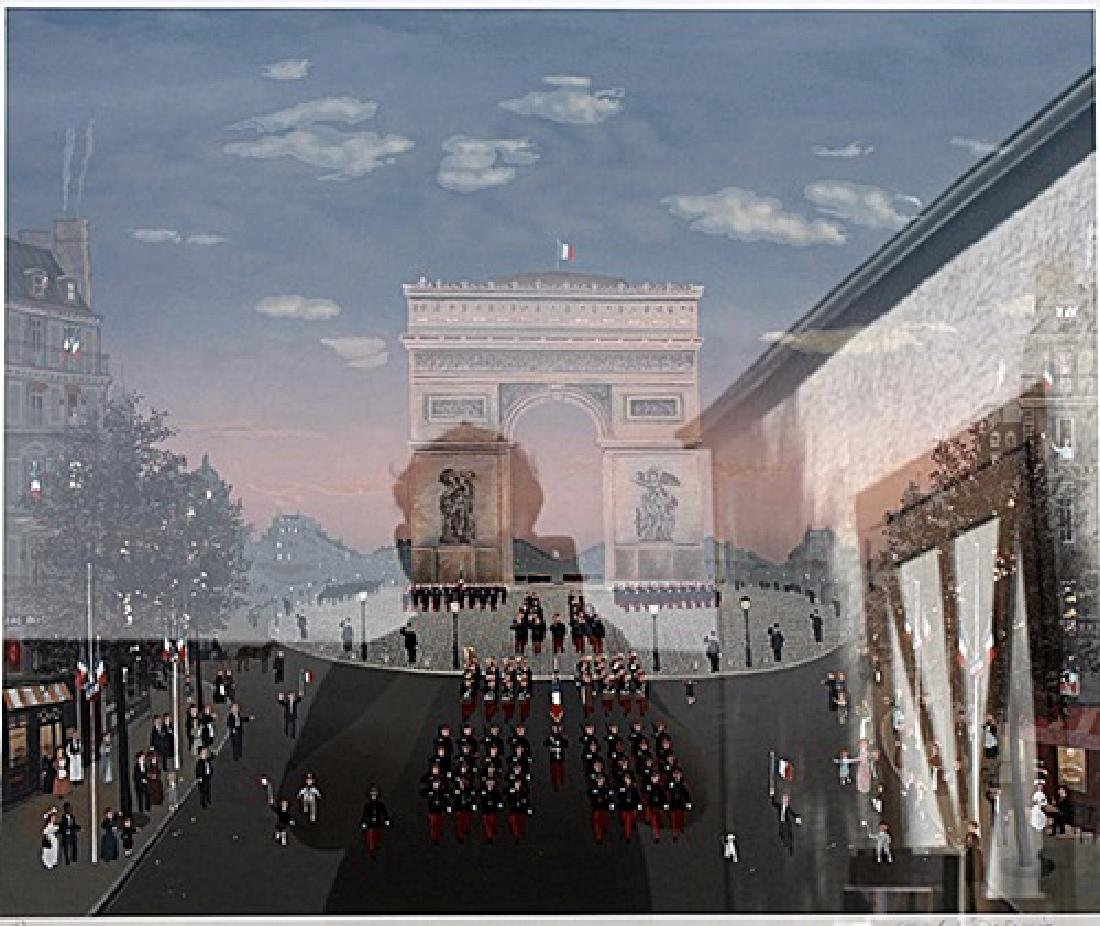Arc de Triomphe - Michel Delacroix - Lithograph