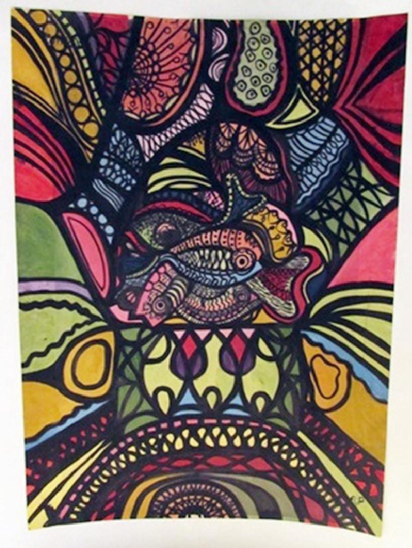 Amelia Pelaez - The Fishes Watercolor