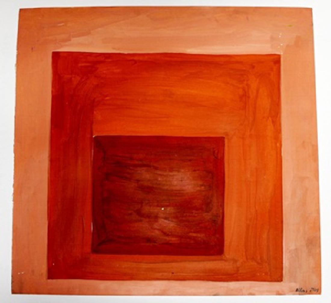 Untitled Oil On Paper - Josef Albers