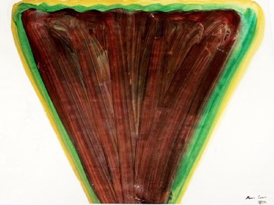 Mountain - Morris Louis - Oil On Paper