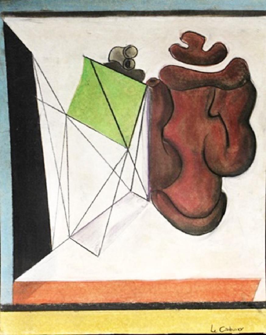 My Heart - Le Corbusier - Pastel On Paper