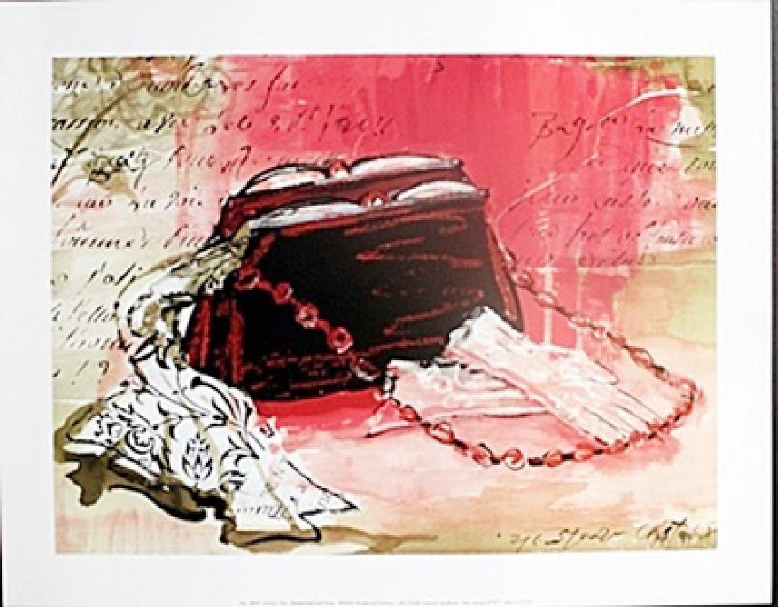 """Fine Art Print """"Hankerchief and Purse"""" by Kimberly Han"""