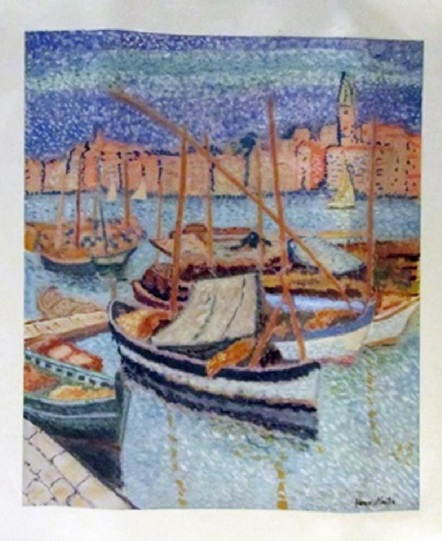 Henri Martin - Boats in the River Watercolor
