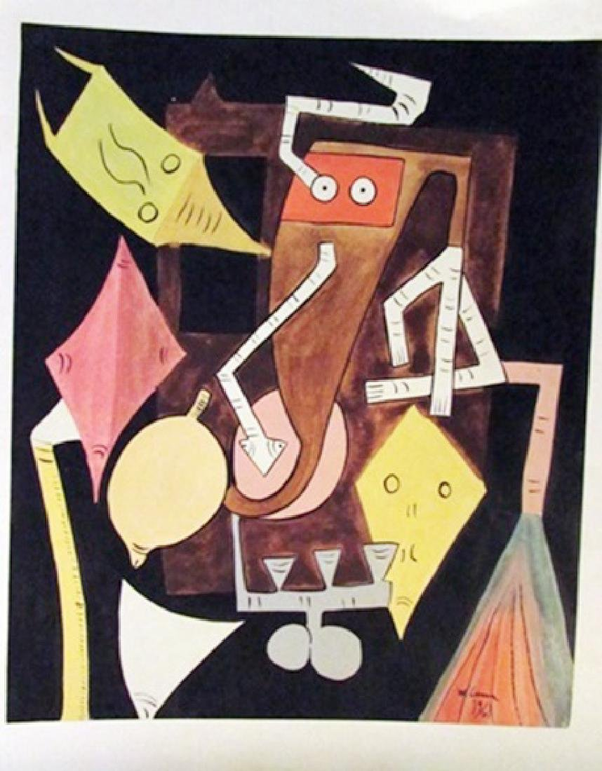 Wilfredo Lam - The Hell Watercolor