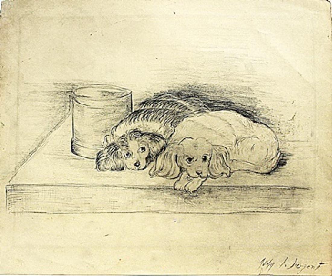 John Singer Sargent - Two Dog