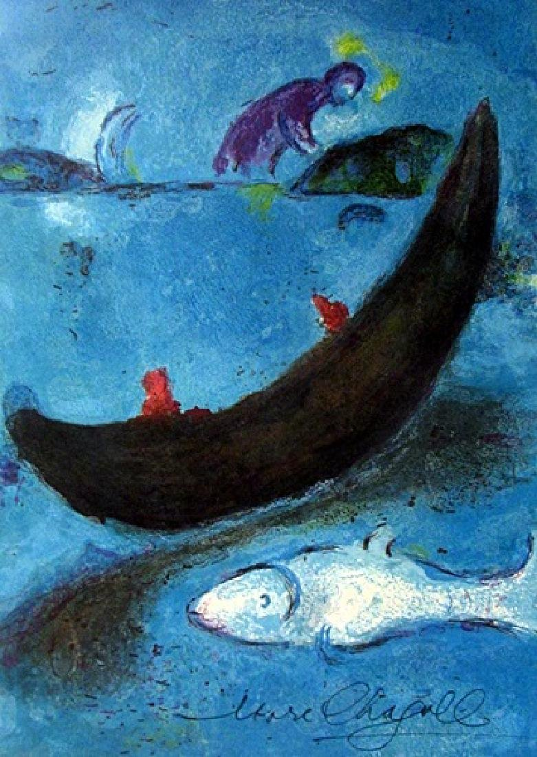 Marc Chagall lithograph - The dead dolphin and the